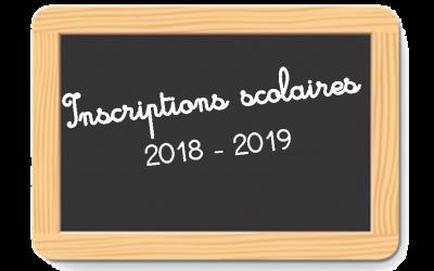 Inscriptions scolaires 2018/2019