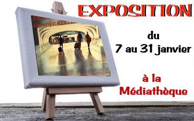 Exposition à la médiathèque