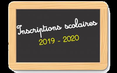 Inscriptions scolaires 2019/2020