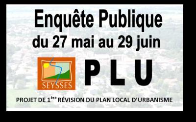 AVIS AU PUBLIC – Enquête Publique PLU