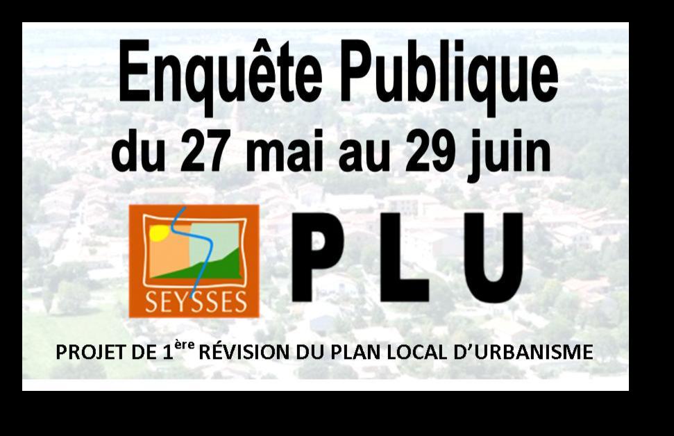 AVIS AU PUBLIC  Enquête Publique PLU