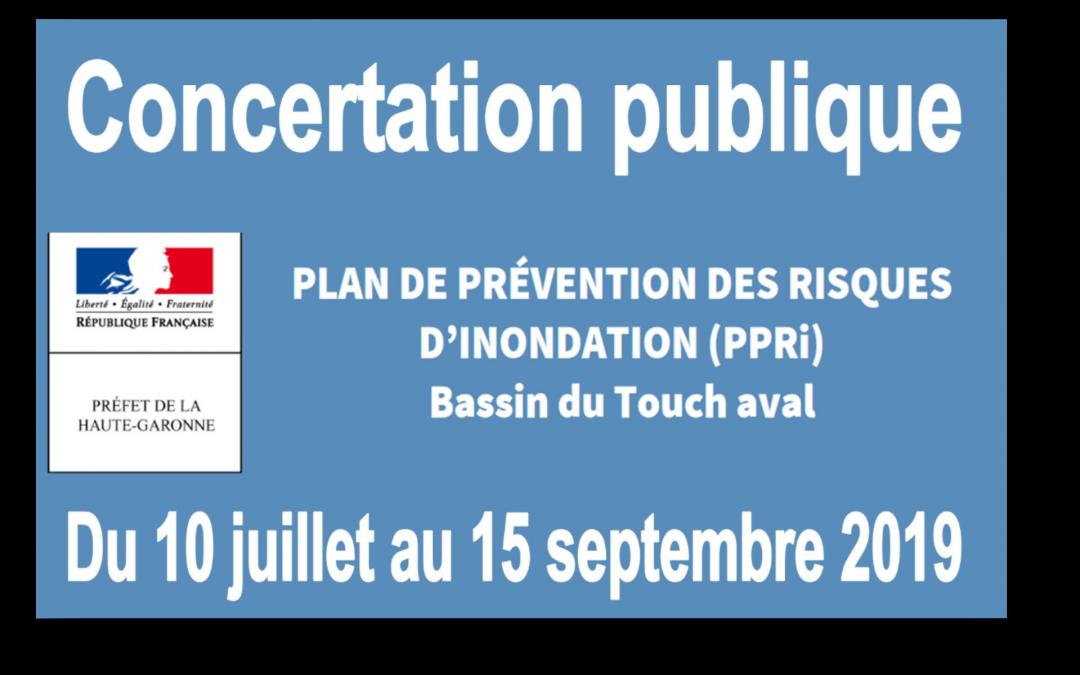 Concertation publique – PPRi Touch aval