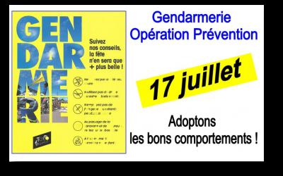 Gendarmerie Opération Prévention Tour de France