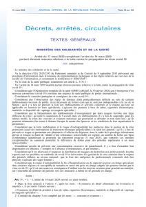 thumbnail of arrêté 17 mars Ministre Santé
