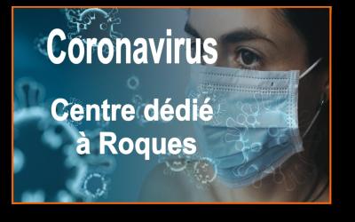COVID-19 // un centre de consultation médicale à Roques
