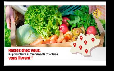 La Région Occitanie a créé une plateforme// livraison de proximité