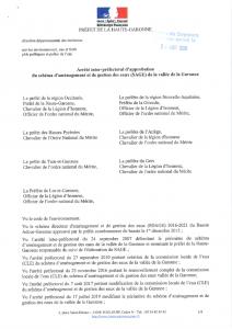 thumbnail of Arrêté d'approbation du schéma d'aménagement et de la gestion des eaux