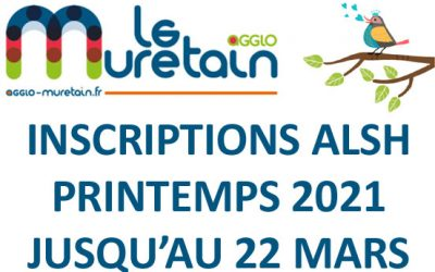 Muretain Agglo : Inscriptions ALSH Printemps 2021