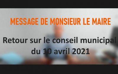 Conseil municipal du 10 avril 2021