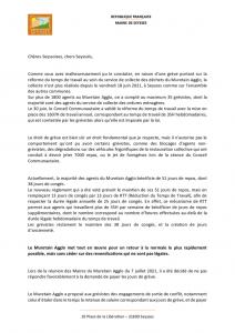 thumbnail of Communiqué de M. le Maire