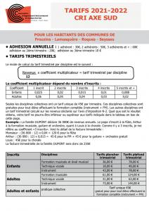 thumbnail of tarifs 2021- 2022