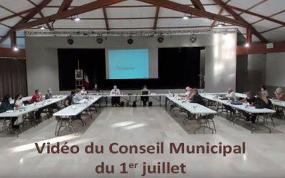 Vidéo du Conseil Municipal du 1er juillet