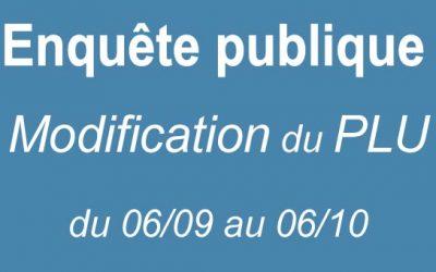 Enquête publique Modification PLU