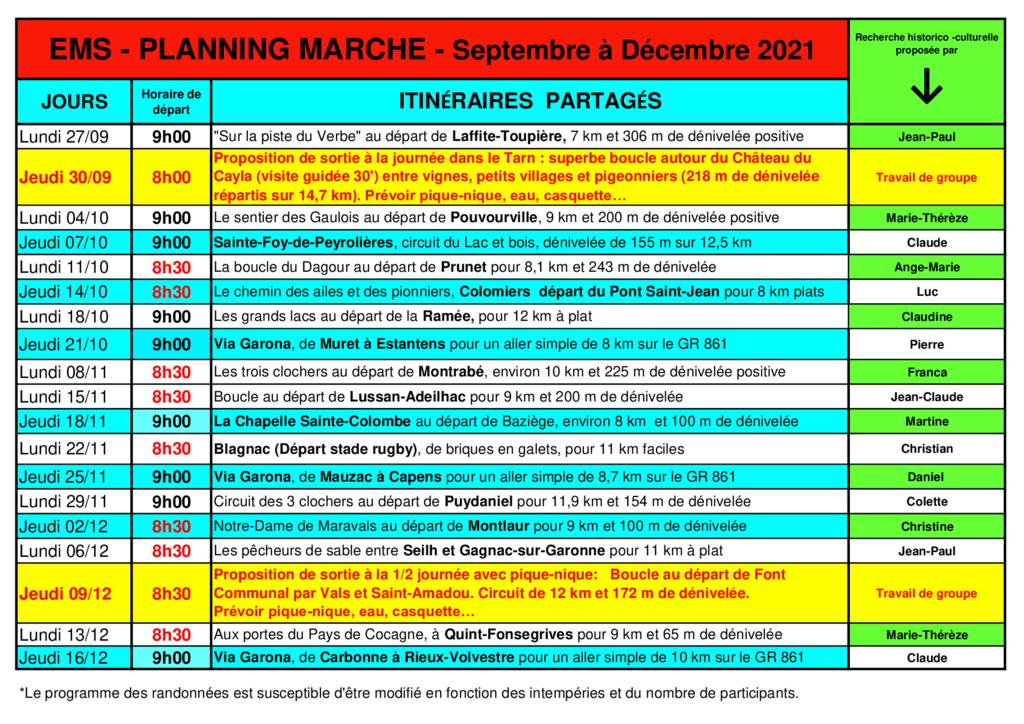 thumbnail of Plannig marche EMS Septembre à Décembre 2021