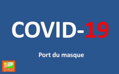 Covid 19 : port du masque