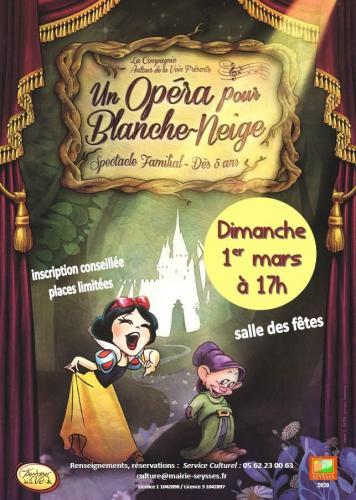 """Spectacle """"Un opéra pour Blanche-Neige"""" 01 03 2020"""